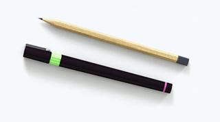 A pen and pencil