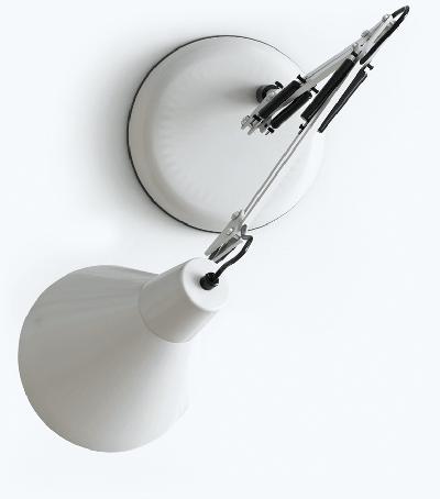 A white modern desk lamp