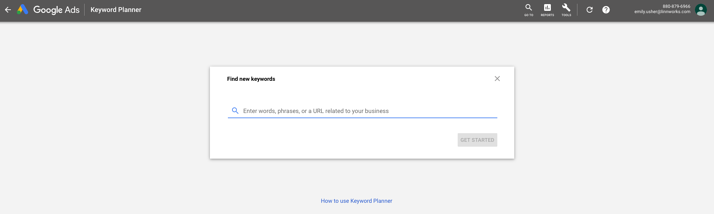 Google Keyword Planner - Amazon keyword research