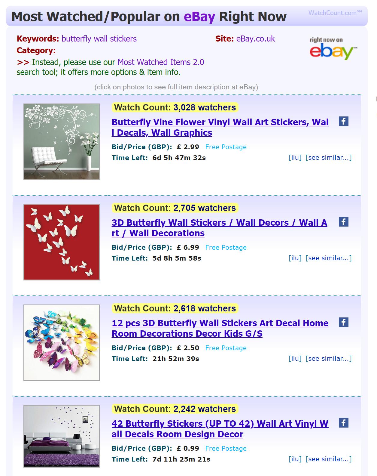 eBay Watch Count