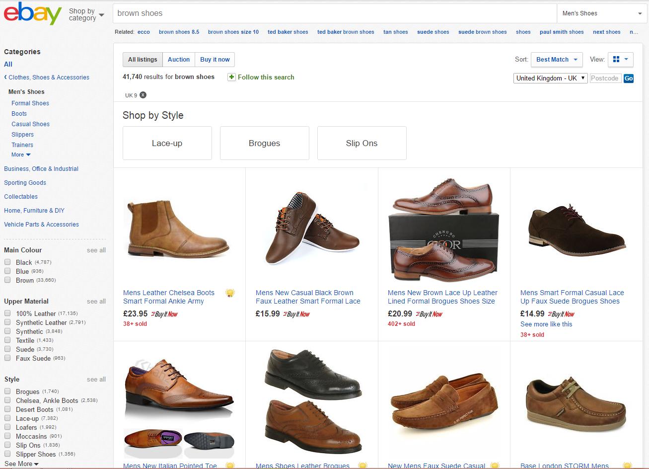 eBay Item Specifics Example