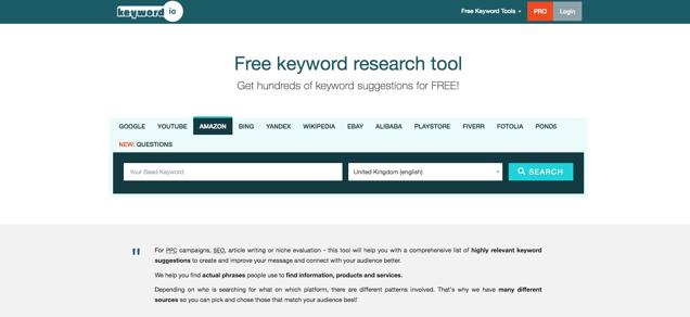 Keyword.io - Amazon keyword research