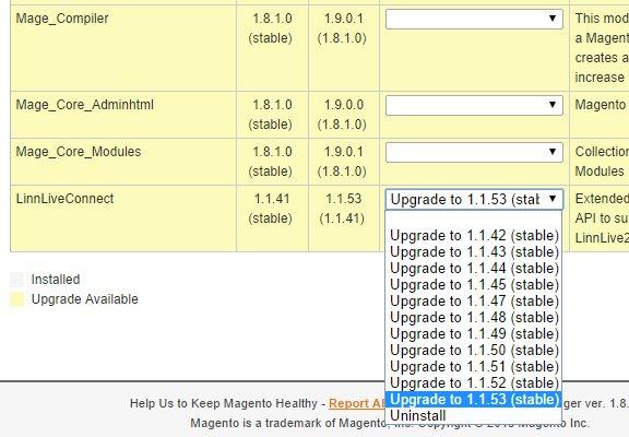 Magento LinnLive Extension Update Step 2