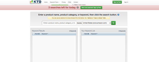 Keyword Tool Dominator - Amazon keyword research