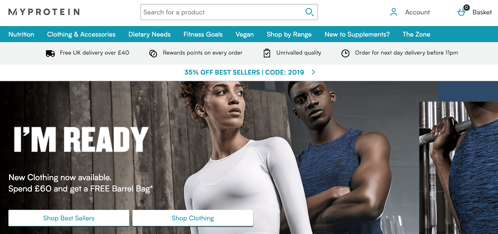 MyProtein - Free Shipping Example