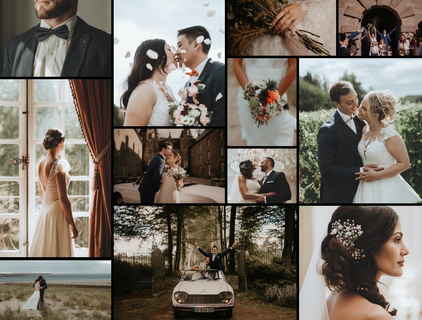 Des exemples de photos de mariage