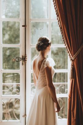 La futur mariée durant les préparatifs