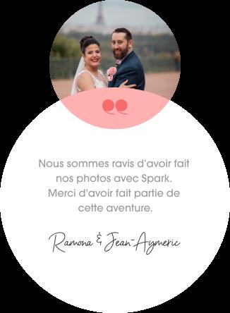 Ramona et Jean-Aymeric, photographiés par Spark