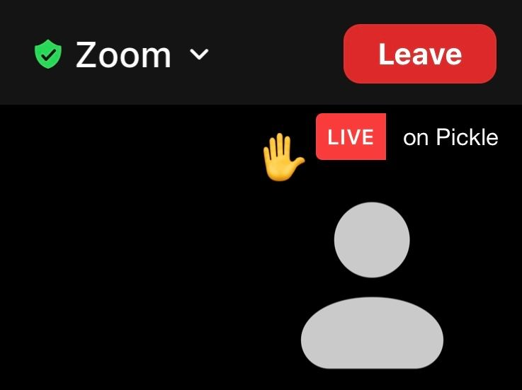 You will know your hand is raised when the hand emoji appears on screen.