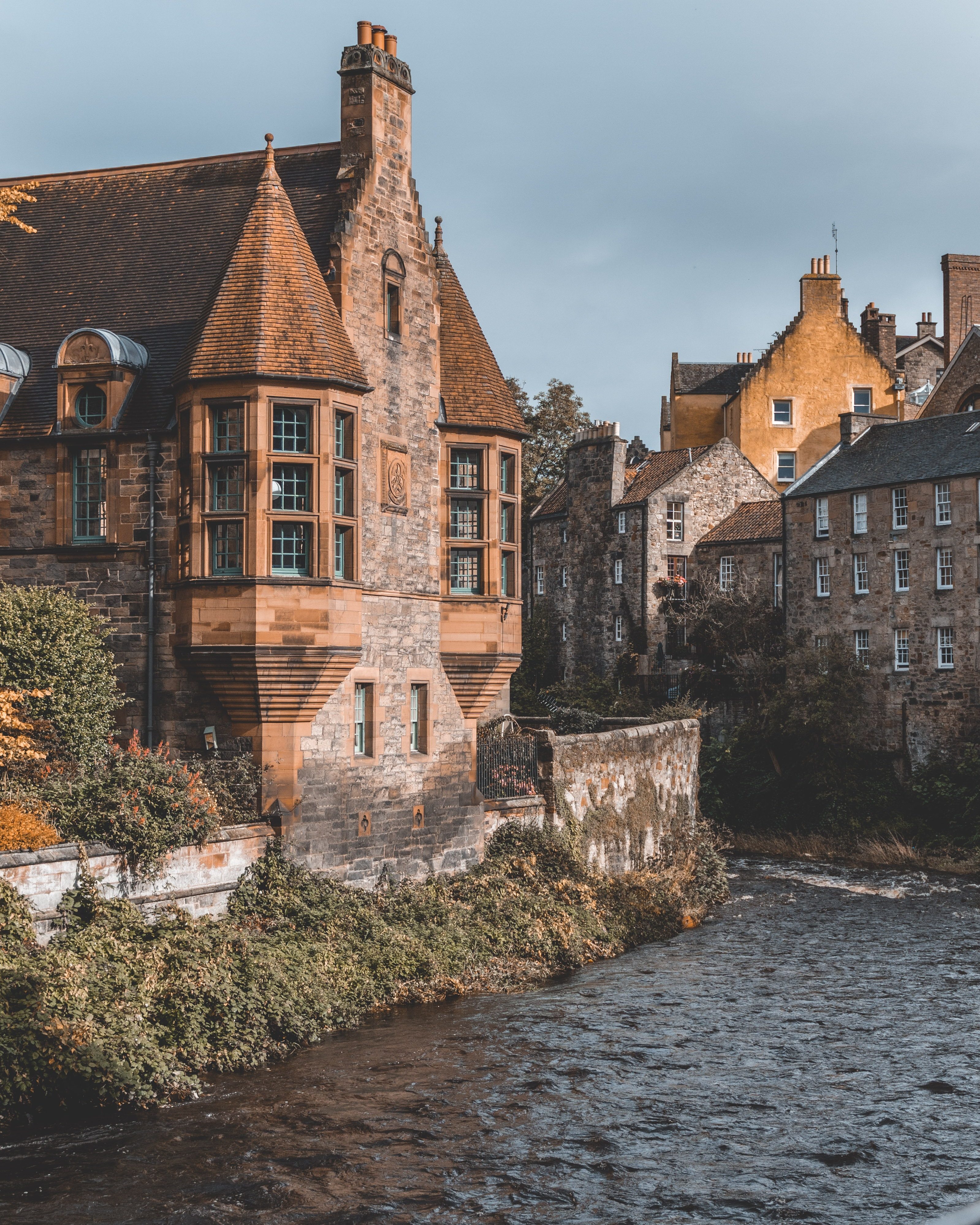Buildings of Dean Village on the Water of Leith