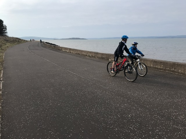 two-boys-on-bikes-at-Silverknowes