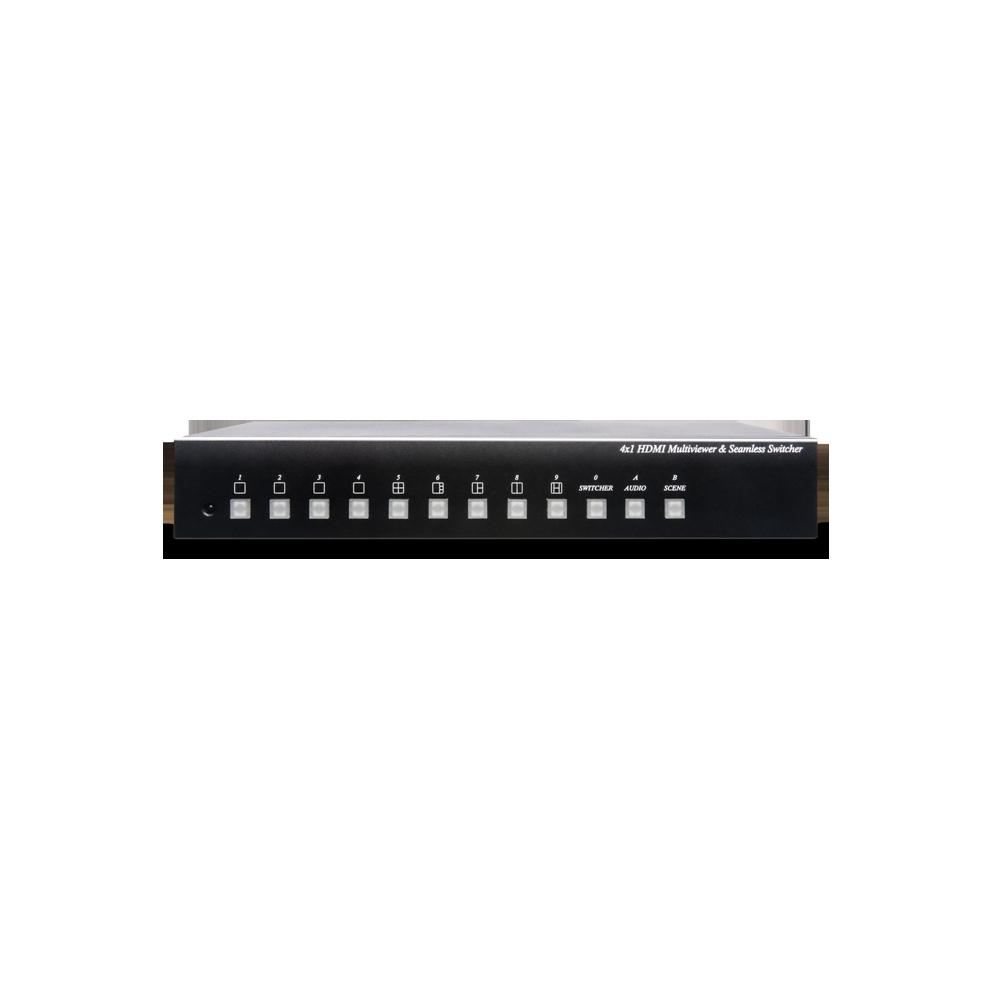 4进1出HDMI无缝切换/画面分割器