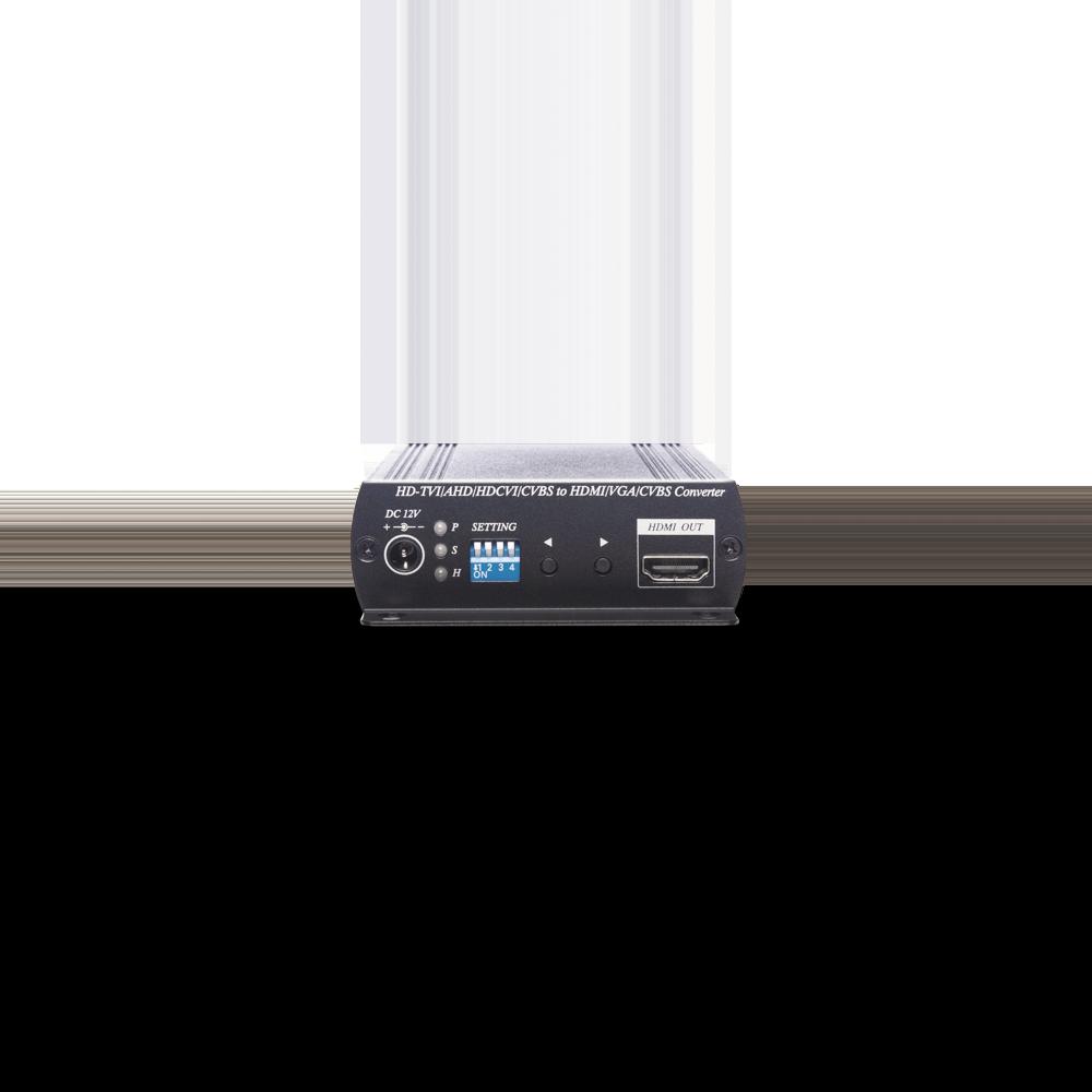HDCVI/HDTVI/AHD/CVBS to HDMI/VGA/Compoiste Video/loop out Converter