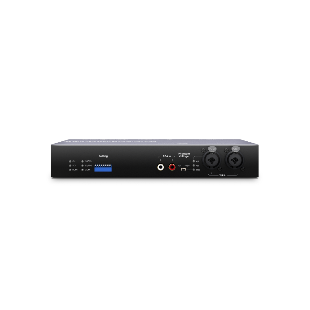 12G-SDI to HDMI 2.0 Converter with Audio Embedded/Extractor