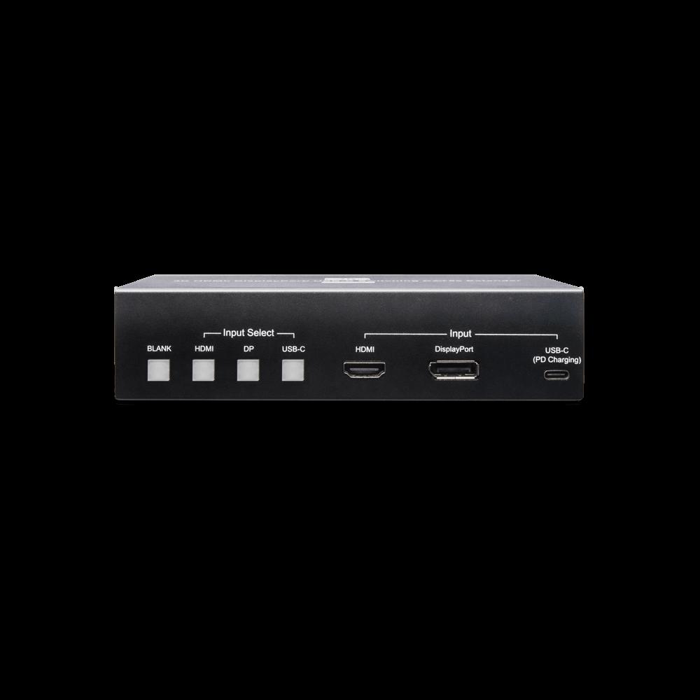4K 60Hz HDMI/ Display Port/ USB-C 简报切换延长器