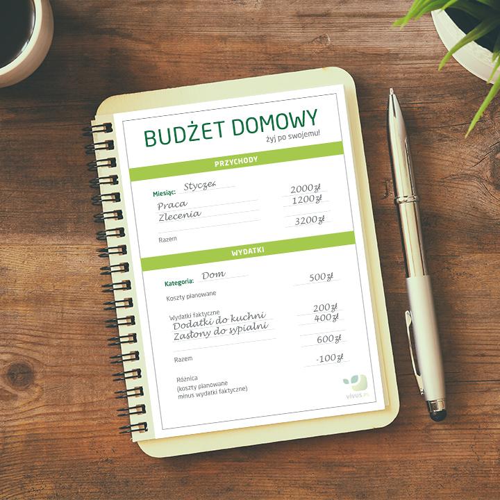 Budżet domowy - jak go zaplanować?   Wzór do pobrania