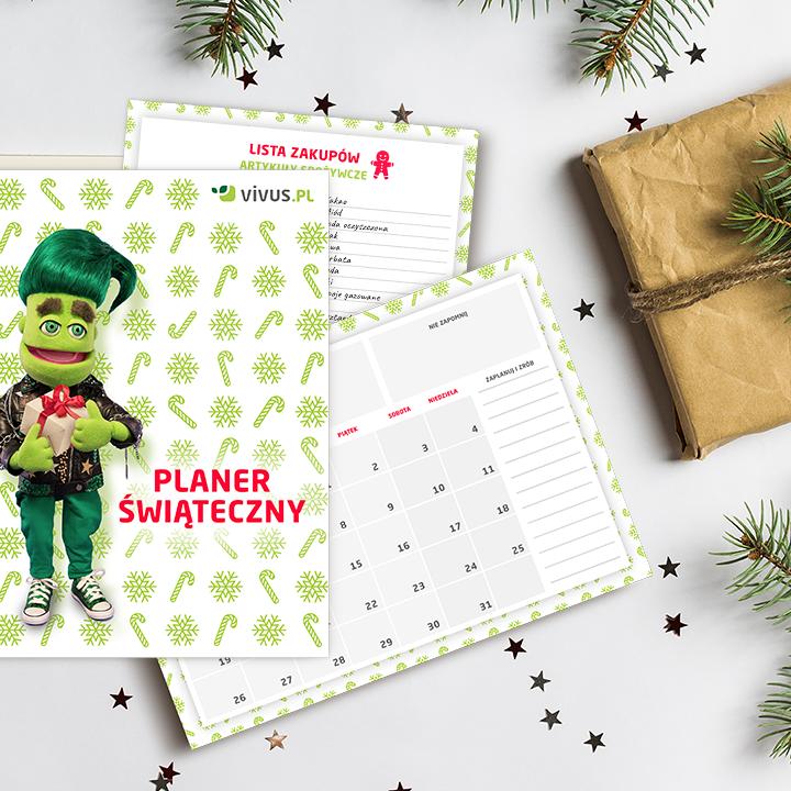Przygotowania do świąt Bożego Narodzenia - kalendarz, planer, checklisty