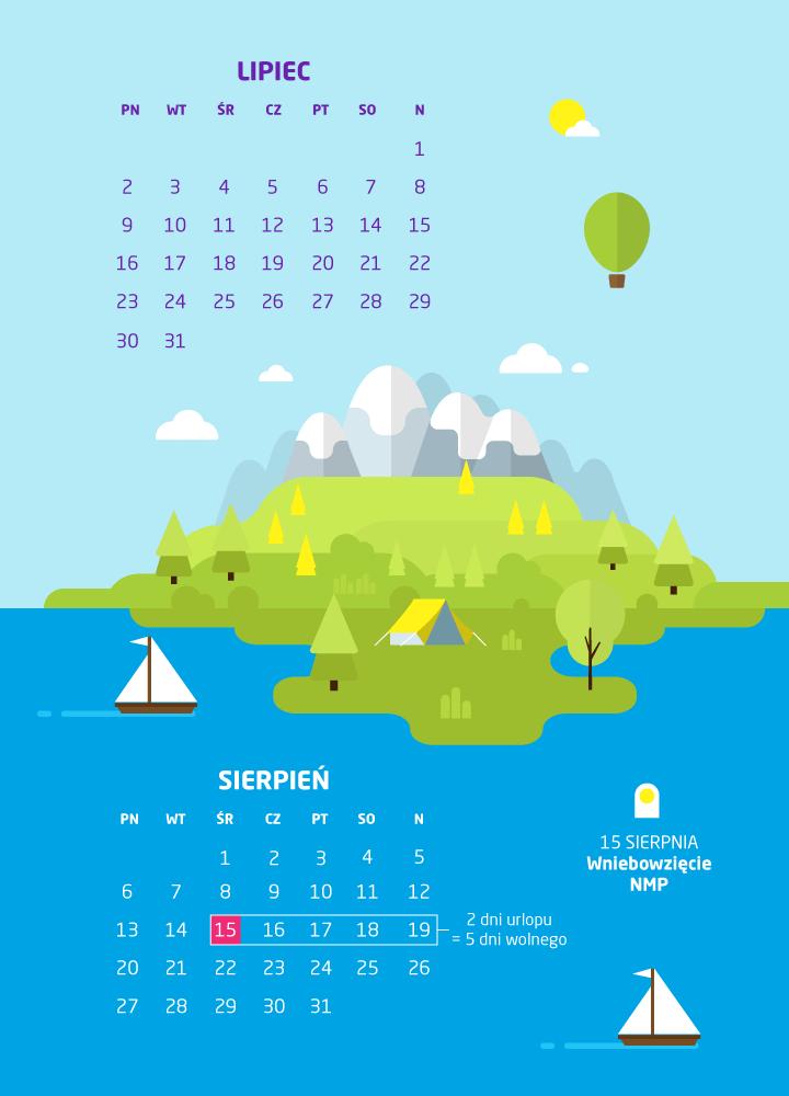 dni wolne lipiec/sierpień 2018