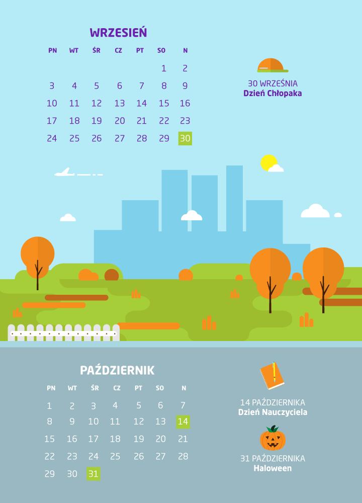 dni wolne wrzesień/październik 2018