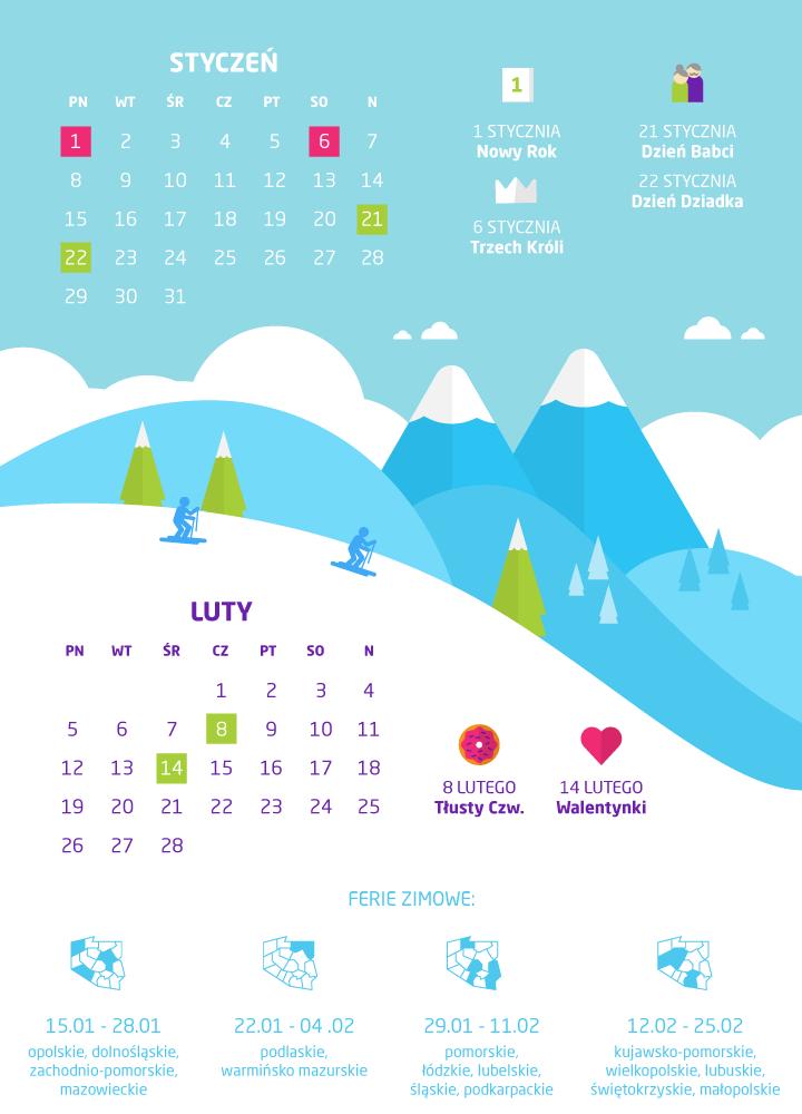 dni wolne styczeń 2018