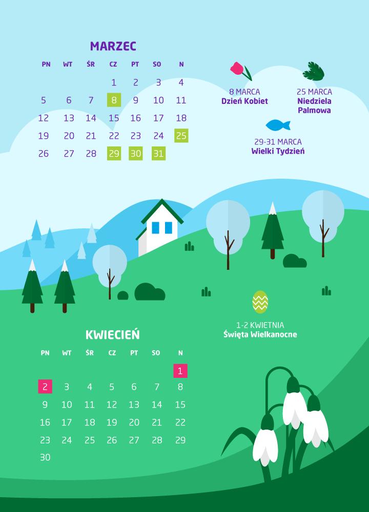 dni wolne marzec 2018