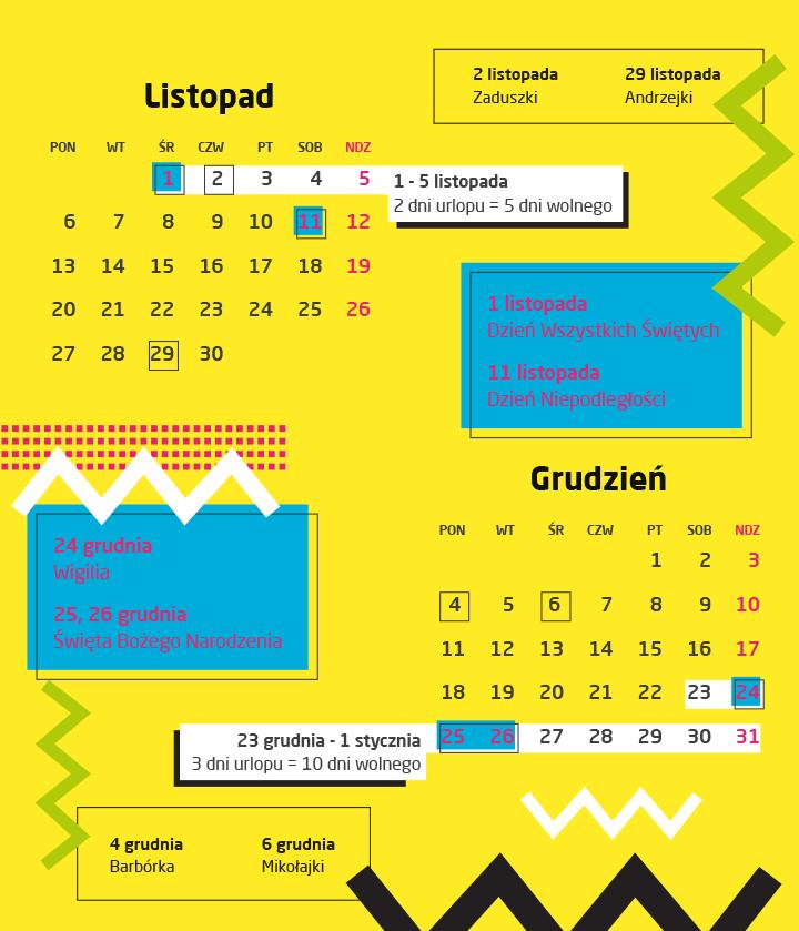 kalendarz świąt 2017