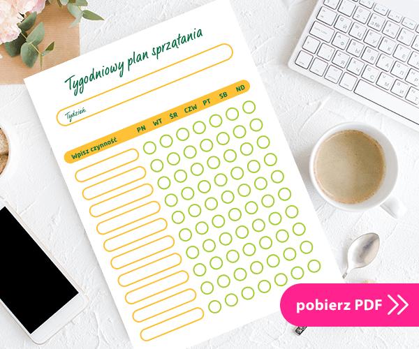 tygodniowy plan sprzątania PDF