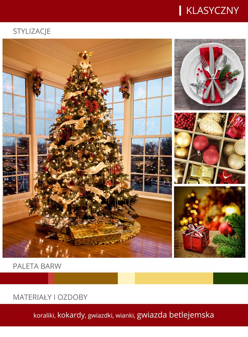 dekoracje bożonarodzeniowe klasyczne