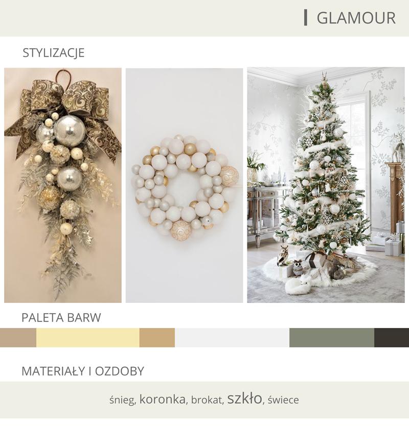 dekoracje bożonarodzeniowe glamour
