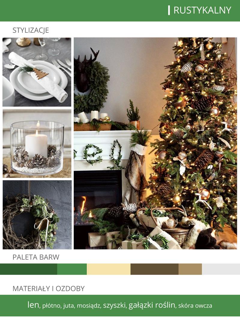 dekoracje bożonarodzeniowe rustykalne