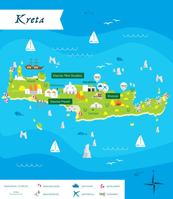 wyspy greckie kreta mapa