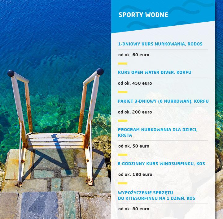 Ceny w Grecji - ile kosztuje nurkowanie i inne sporty wodne