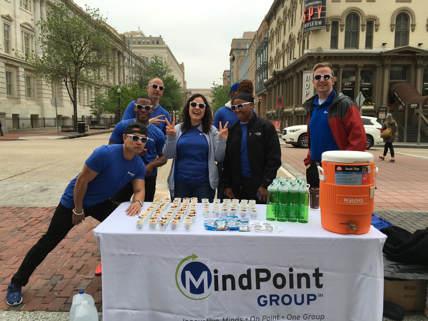 MPG Employees passing out water during a charity run