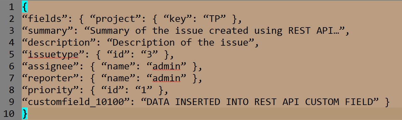 burp suite API Custom field