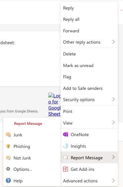 How to Report phishing attacks