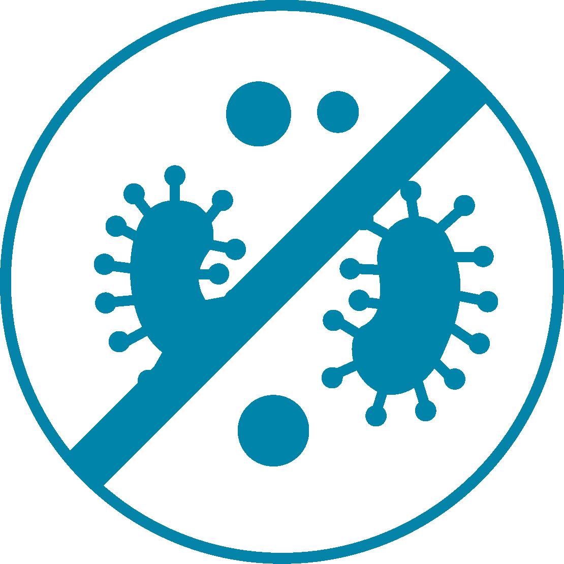 Elimina il 99,9% di germi e batteri in modo naturale
