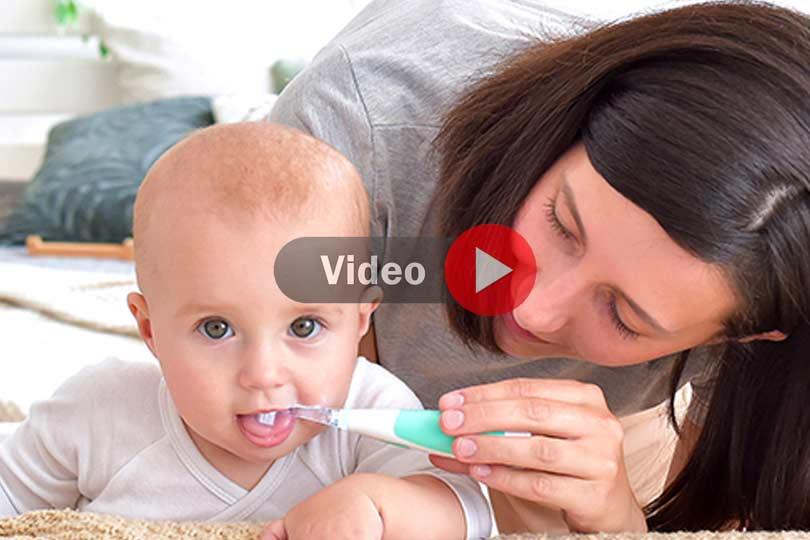 Spazzolino elettrico per neonati e bambini - Sonic Clean & Care 1151