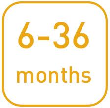 Dai 6 ai 36 mesi