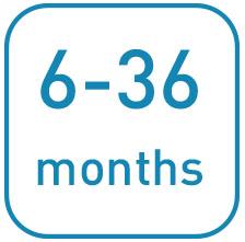 Da 6 a 36 mesi