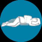 Quando dormi sul fianco destro, il supporto sostiene la pancia donandoti un maggior comfort