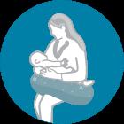 Potrai utilizzarlo come cuscino allattamento, regolabile in base alle tue necessità e quelle del tuo piccolo