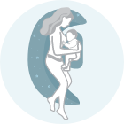 Ideale come cuscino per allattare sul fianco in maniera confortevole