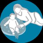 Annodando le estremità puoi trasformarlo in un comodo cuscino per aiutare il tuo piccolo ad imparare a stare seduto