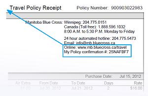 Travel Policy Receipt