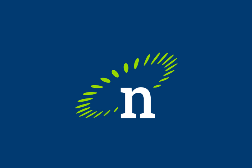 Nexsys icon on blue background