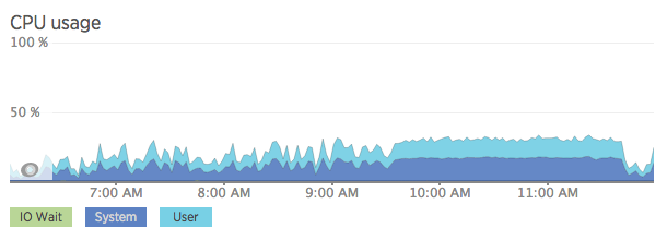 CPU Usage during trouble time