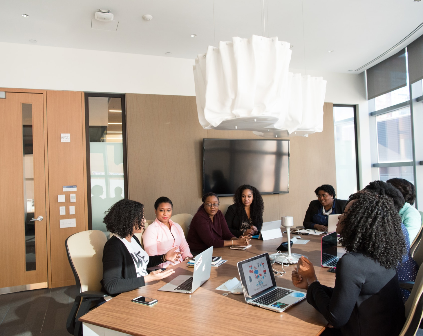 Business women meeting at a conference table