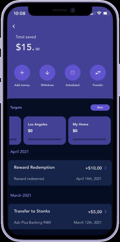 iphone screen of Quo savings