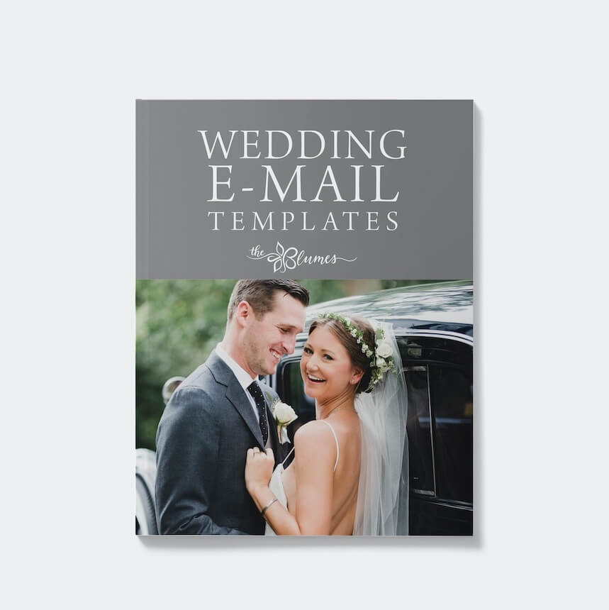 Blume Wedding Email Templates