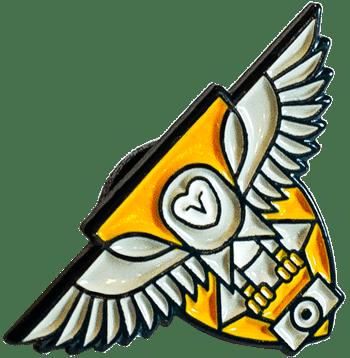 yellow-shield-owl-soft-enamel-pin